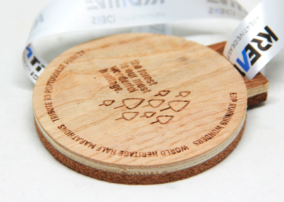 Counter-glued Cork with Veneered Beech | Laser Engraving